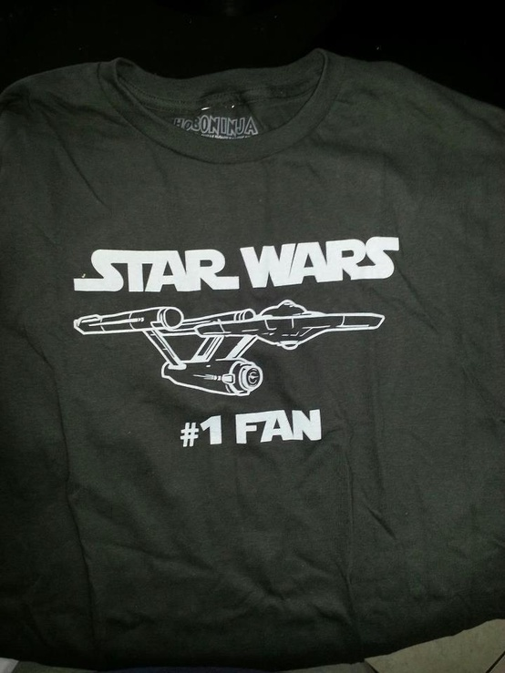 funny fail pics t shirt fail star trek ship on star wars #1 fan tshirt