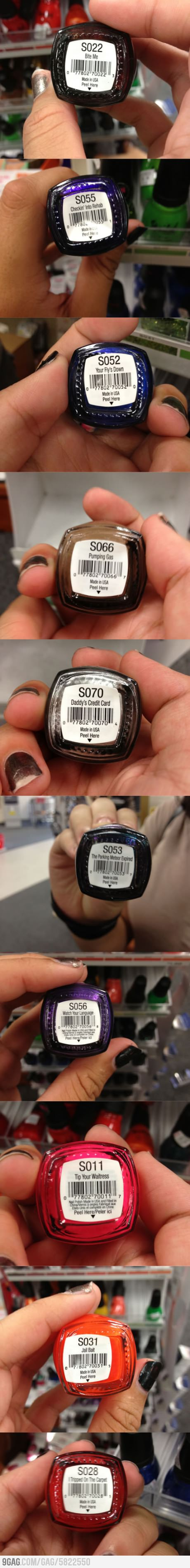 funny picture wacky and funny nail polish names
