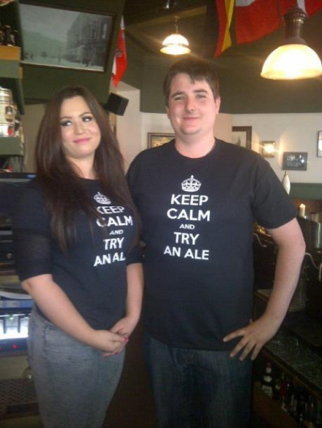 funny fail pic funny tshirt fail should read keep calm and try an ale keep calm and try anal