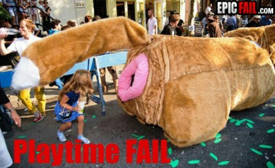 funny fail kids amusement ride