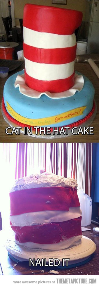 funy cat in the hat nailed it bake fail