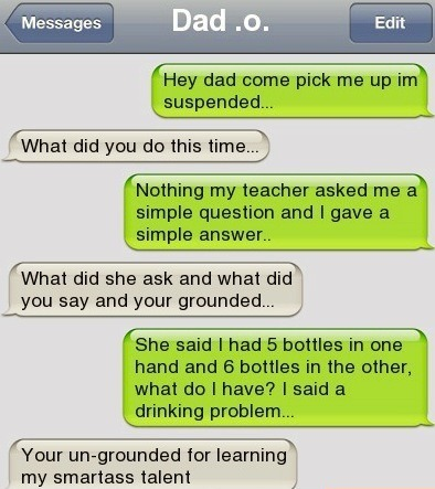 Funny text message suspended teacher drinking problem