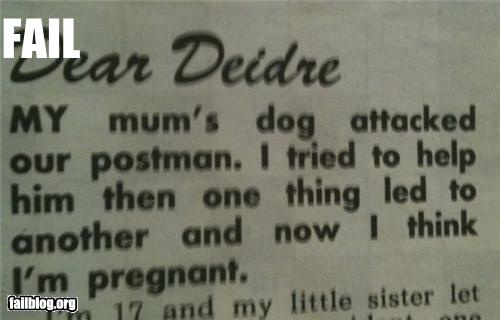 funny fail dog postman might be pregnant fail