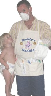 funny baby shower gag gift daddy's changing apron set