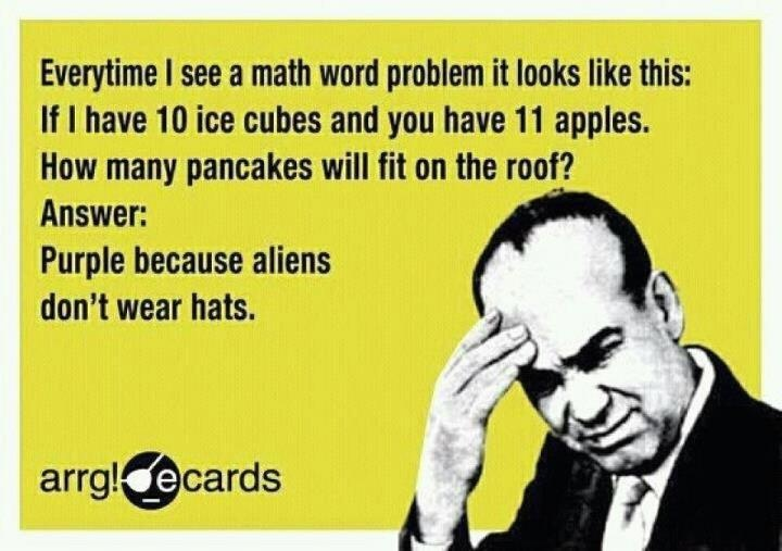 funny quote when i see a math problem