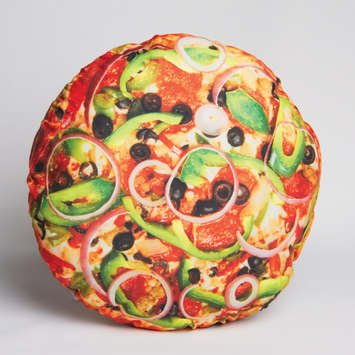 funny pizza food pillow throw