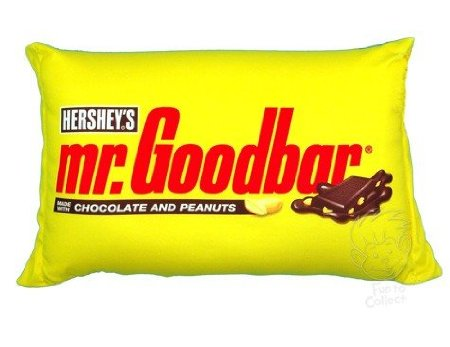 funny mr goodbar chocolate candy pillow