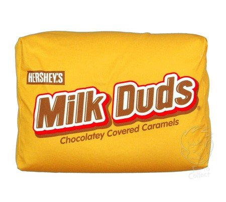funny milk duds candy pillow