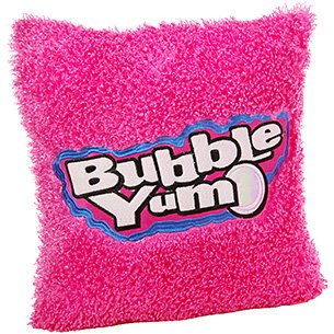 funny bubble yum candy gum square pillow