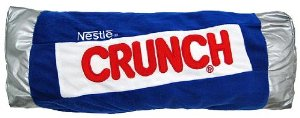 funny nestle crunch chocolate bar pillow