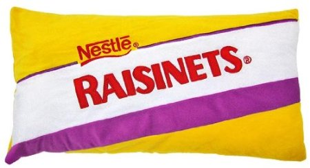 funny raisinets chocolate candy pillow