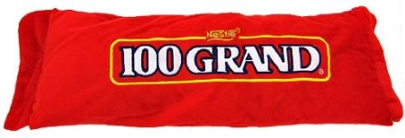 funny 100 Grand Chocolate Bar Candy Pillow