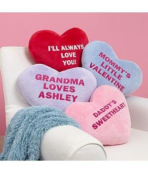 funny st. valentines day heart pillows candy hearts