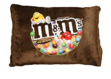 funny M&M mm bag chocolate candy pillow