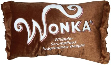 willy wonka chocolate bar candy pillow
