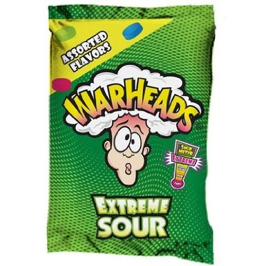 funny candy pillow warheads sour candy throw pillow