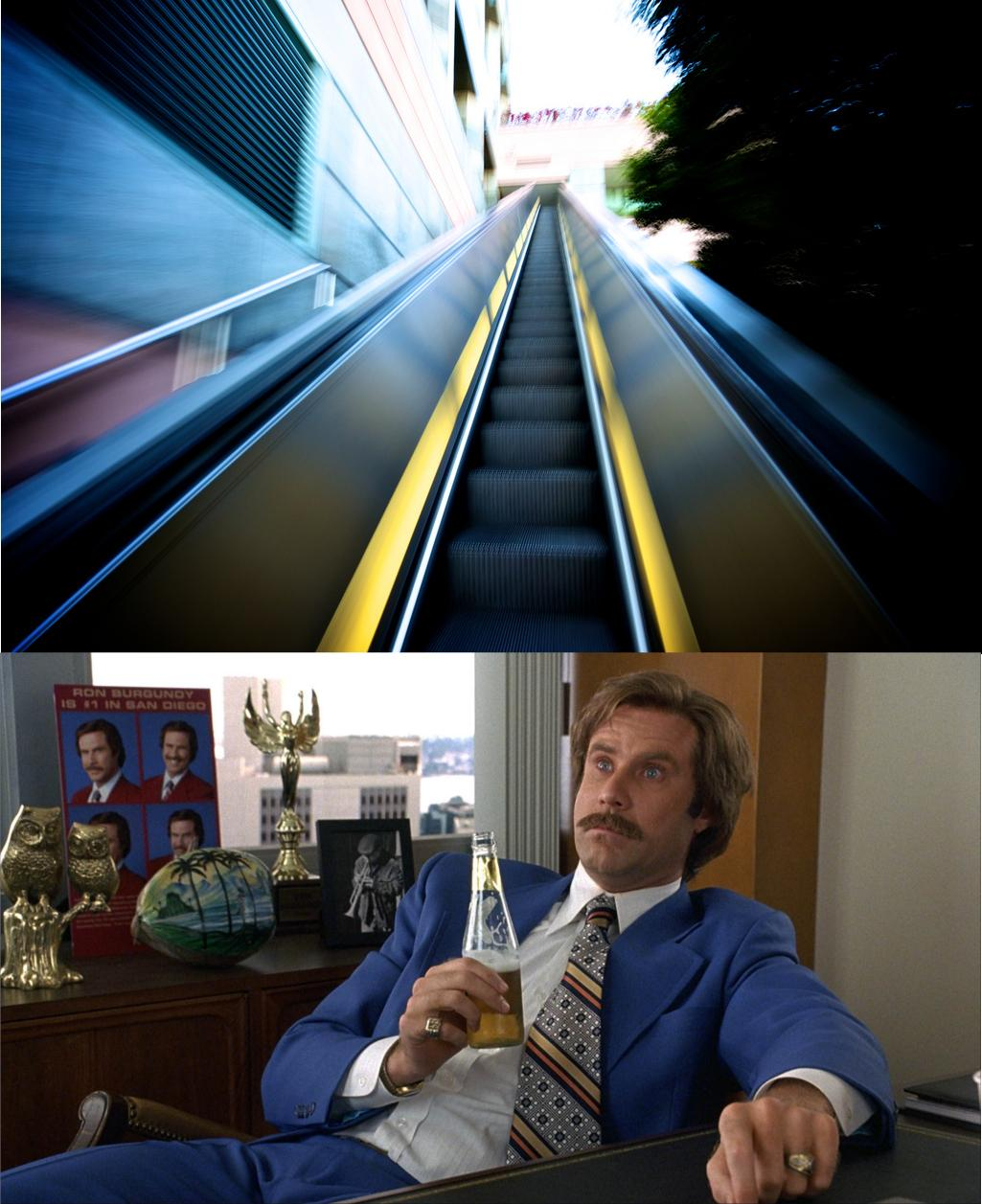 Funny well that escalated quickly will Ferrell meme pictures photos wow longest escalator will speechless