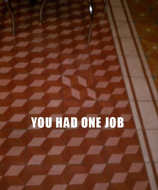 funny you had one job carpet tile