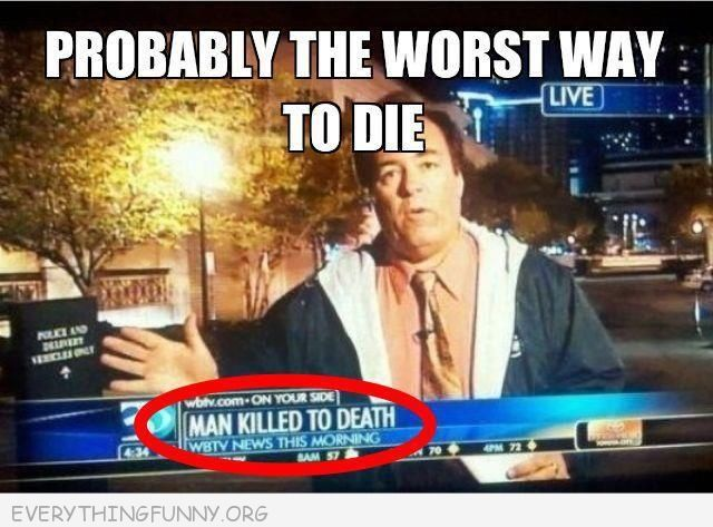 funny fail man killed to death news story