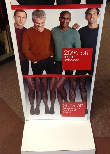 funny ad fail men above legs with stockings underneath