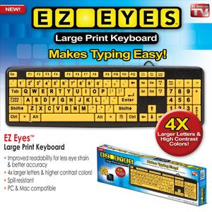 ez eyes extra large keyboard as seen on tv
