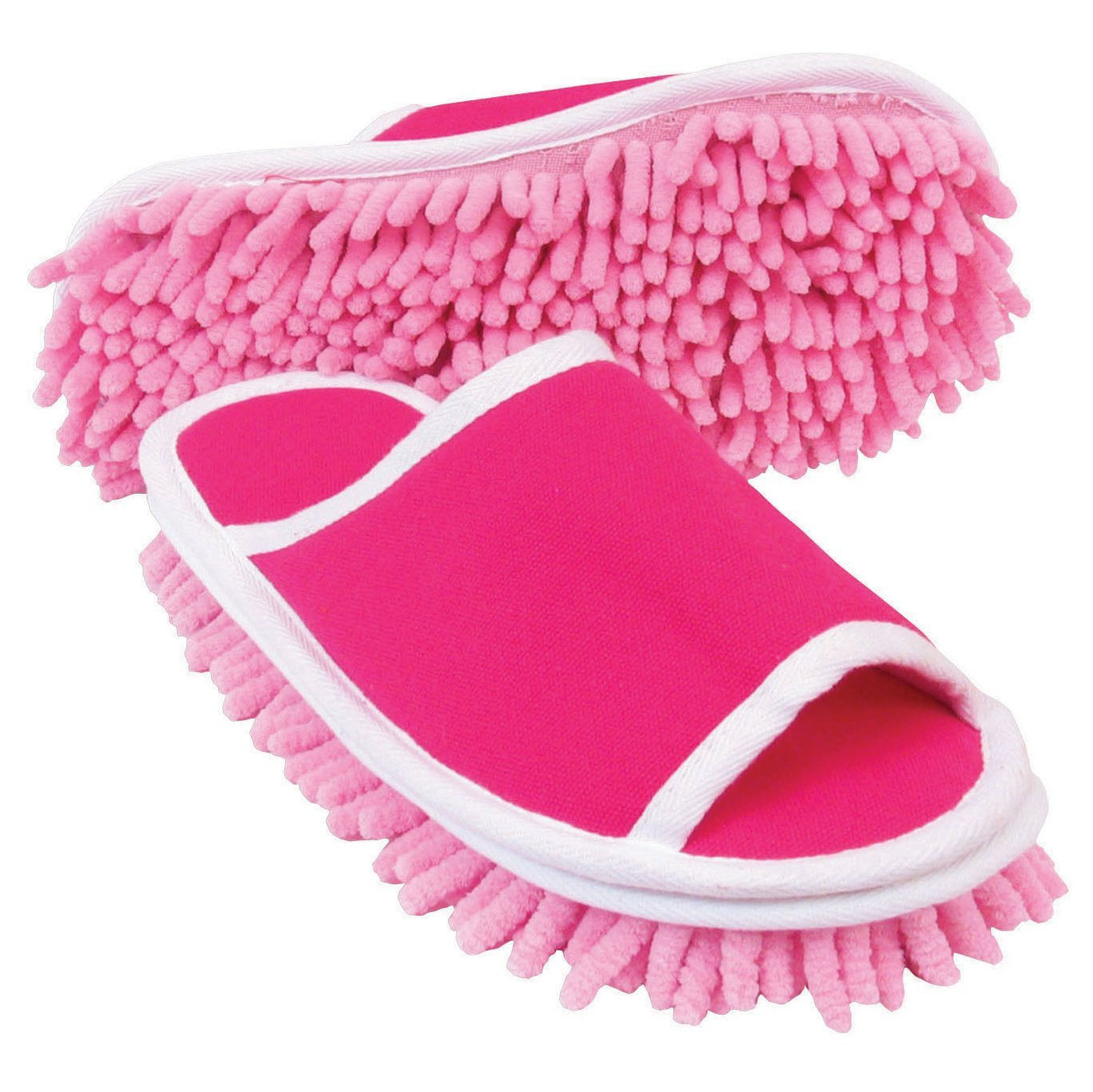 funny as seen on tv slipper dusters Slipper Genie Microfiber Cleaning Slippers, Pink