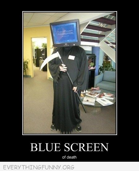 funny costume blue screen of death