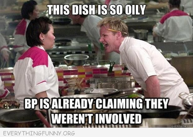 funny gordon ramsey meme so oily bp already claiming they arent' involved