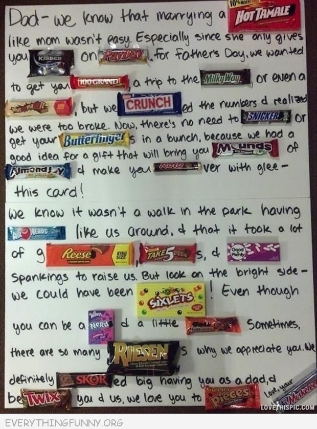 Sayings with Candy Bars Cards