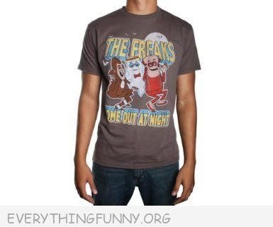 funny tshirt freaks come out at night cereal shirt frankenberry count chocula boo berry t shirt