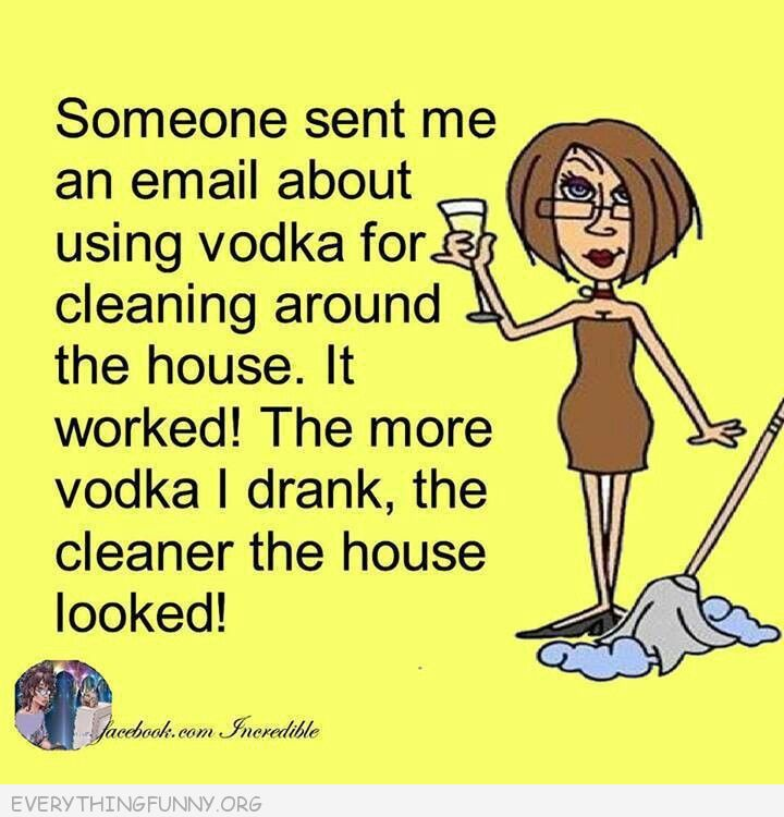 funny cartoon comic vodka cleaning more i drank the cleaner it looked