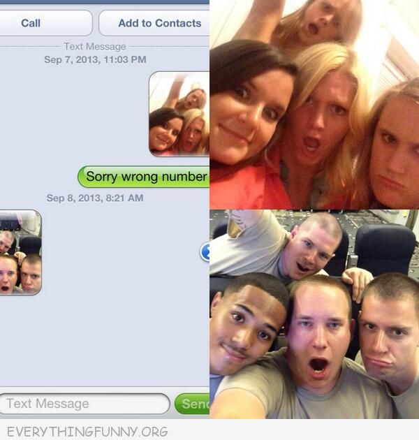 funny text message group girls send wrong text group guys