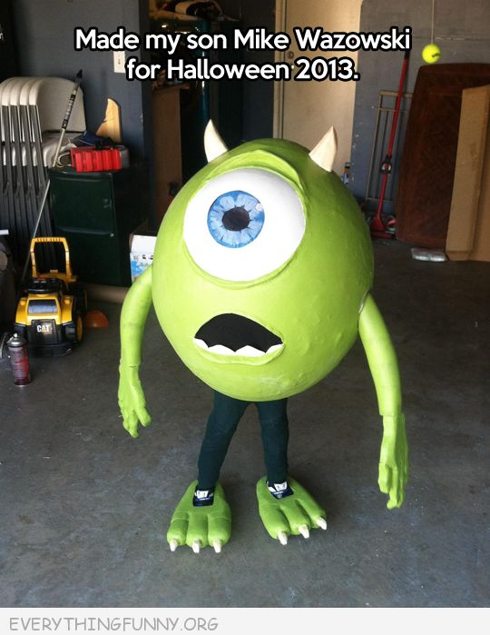funny costumes mike from monsters inc