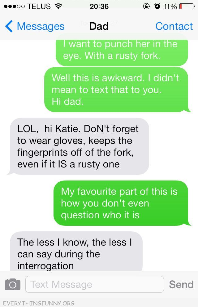 funny text message rusty fork wear gloves