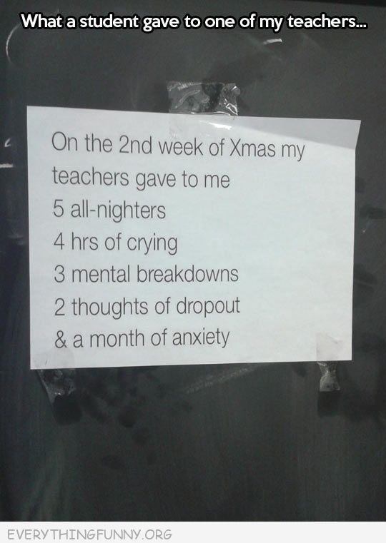 funny notes to teacher christmas song month of anxiety