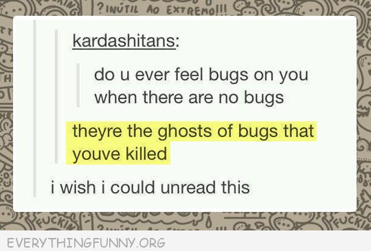funny tumblr ghosts of bugs wish i could unread this