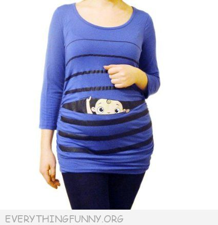 a00efd90d6ecb Peek a Boo Baby Peeking Funny Maternity Shirt - Everything Funny