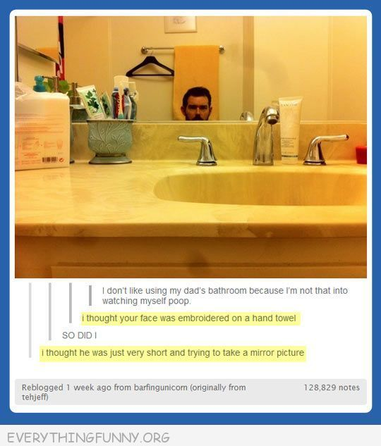 funniest tumblr text post face embroidered on hand towel