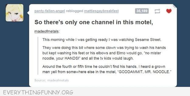 funniest tumblr text post mr noodle