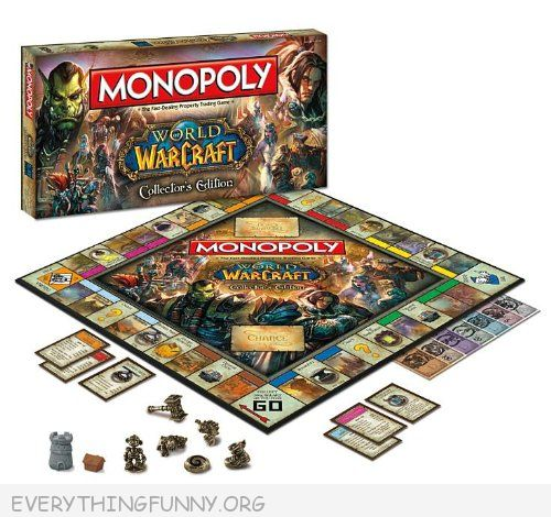 world of warcraft monopoly game, world of warcraft monopoly,