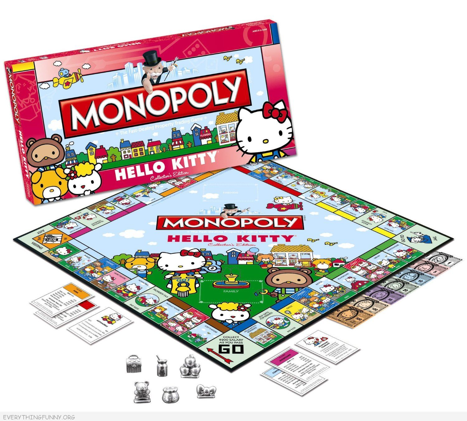 hello kitty monopoly game,Cool monopoly game, special edition monopoly games, collector monopoly games,