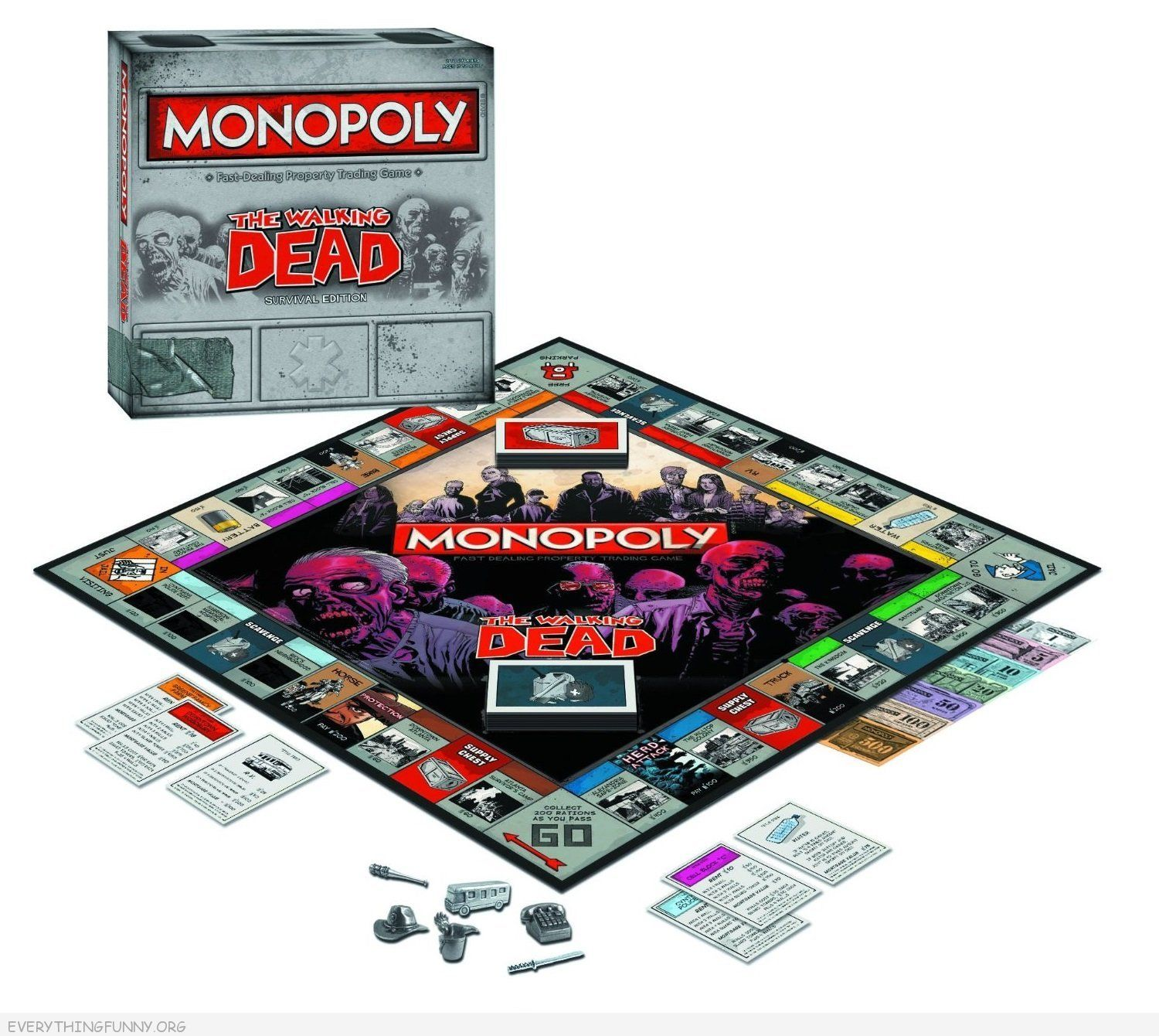the walking dead monopoly game, walking dead monopoly,