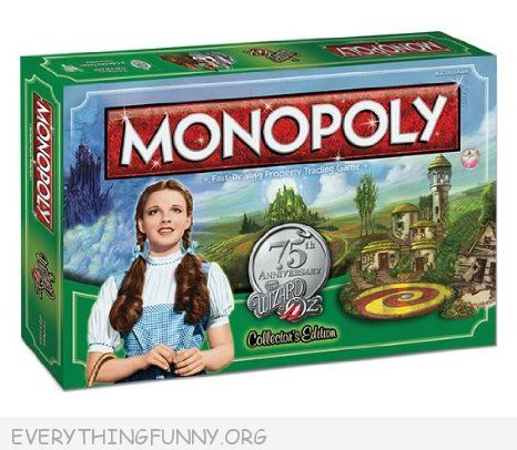 the wizard of oz monopoly game, wizard oz monopoly,