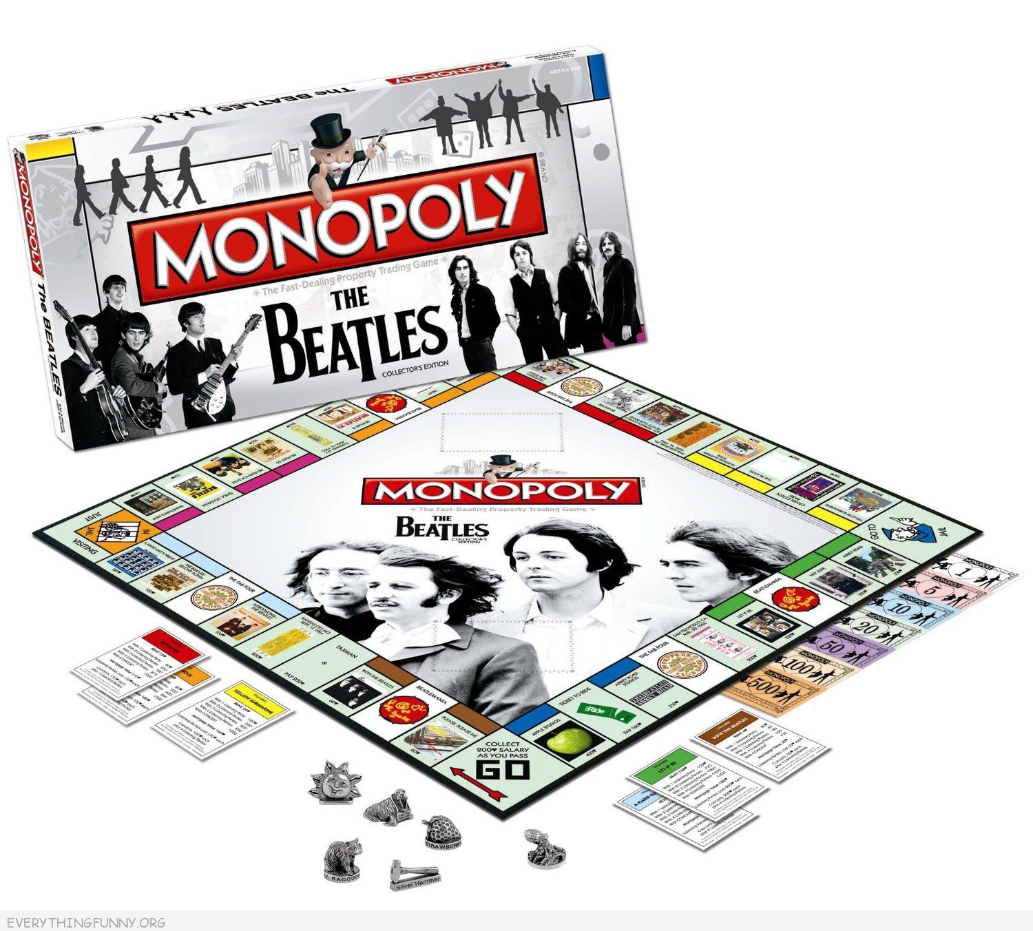 the beatles monopoly game, beatles monopoly,
