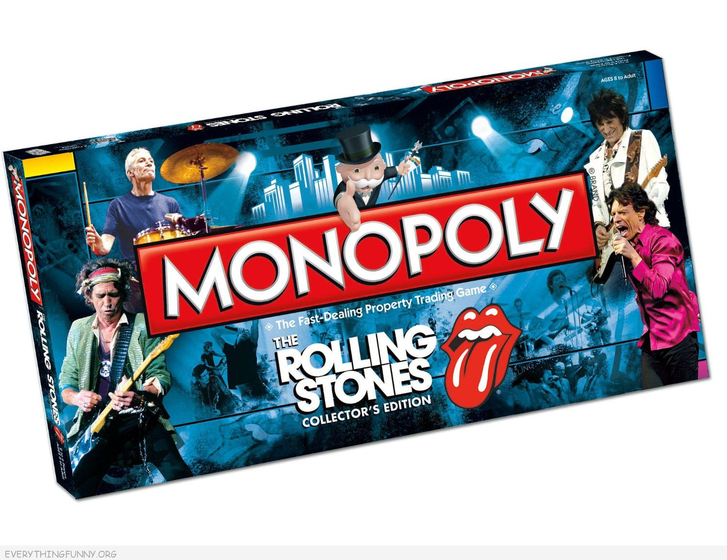 the rolling stone monopoly game, rolling stones monopoly, rock bands monopoly,