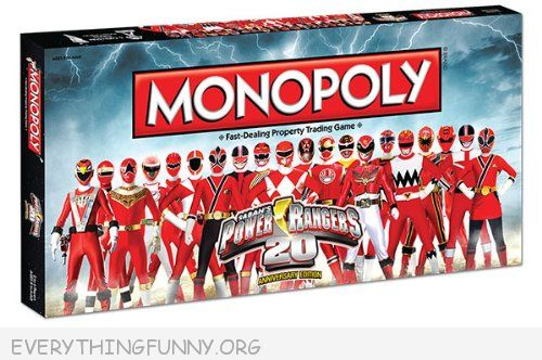 power rangers monopoly game