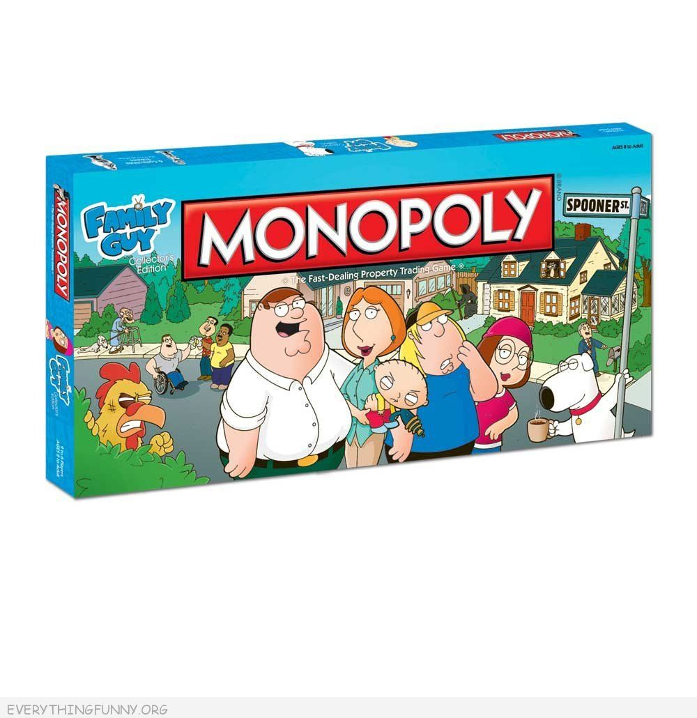 family guy monopoly game, family guy monopoly,