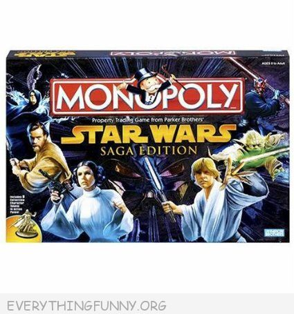 star wars monopoly game, star wars classic monopoly,