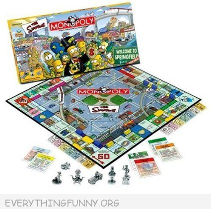 the simpson monopoly game, simpsons monopoly,