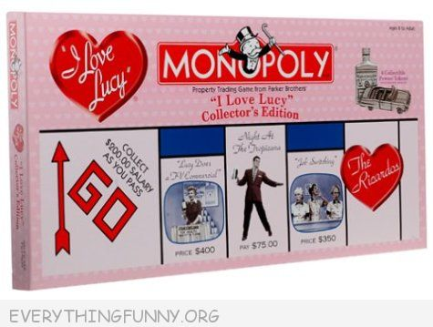 i love lucy monopoly game, i love lucy monopoly,